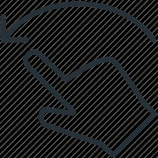 gestures, left, swipe icon