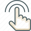 double, finger, gestureworks, one, tap icon