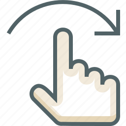 finger, flick, gestureworks, one, right icon