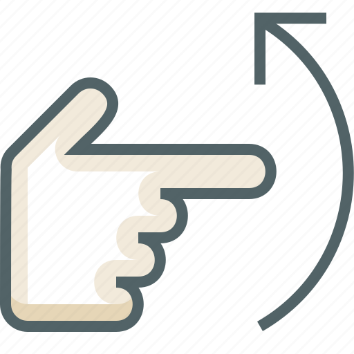 finger, flick, gestureworks, one, up icon