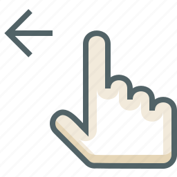 finger, gestureworks, left, one, swipe icon
