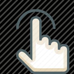 finger, gestureworks, one, tap icon