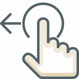 gestureworks, left, swipe, tap icon