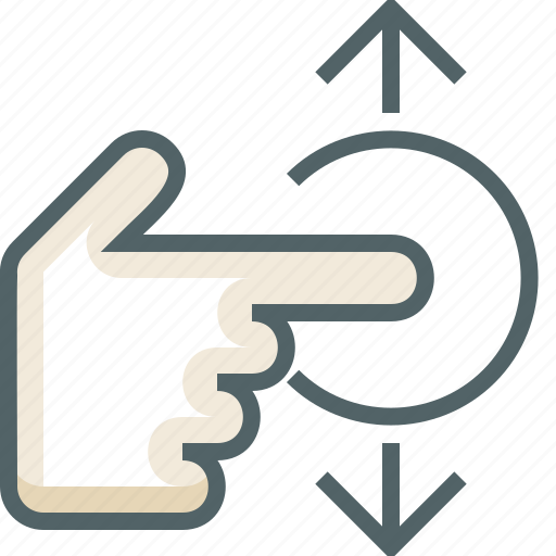 gestureworks, swipe, tap, vertical icon