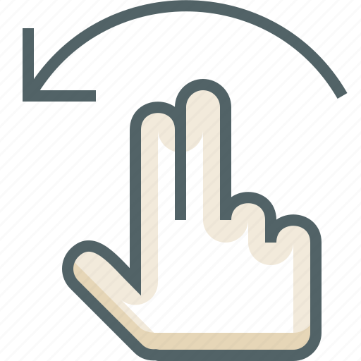 finger, flick, gestureworks, left, two icon