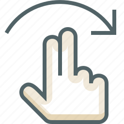 finger, flick, gestureworks, right, two icon