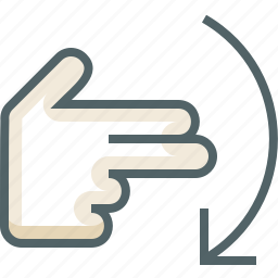 finger, flick, gestureworks, two, up icon