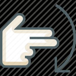 finger, flick, gestureworks, two, up icon