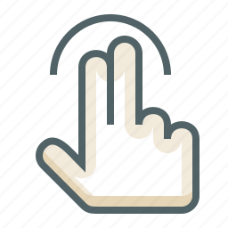 finger, gestureworks, tap, two icon