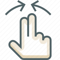 gestureworks, in, zoom icon