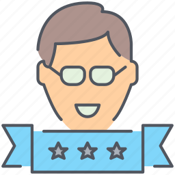 employee, person, rank, ranking, user, user rank icon