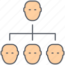 businessmen, employees, group, hierarchy, people, users