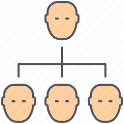 businessmen, employees, group, hierarchy, people, users icon