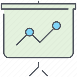 analytics, business, gain, line chart, presentation, report, statistics icon