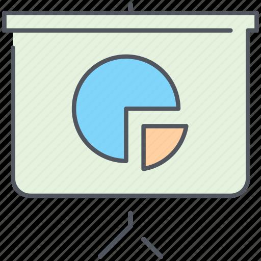 analytics, pie, pie chart, presentation, report, statistics icon
