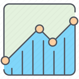 analytics, business, finance, lines, report, statistics, stats icon