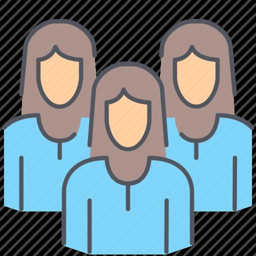 businessmen, employees, girls, group, people, team, women icon
