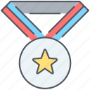 medal, award, competition, reward, sport, trophy, winner icon