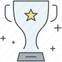 cup, winning, achievement, award, competition, prize, trophy icon