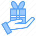 box, get, gift, give, hand, like, love icon