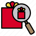 box, get, gift, give, like, love, search icon