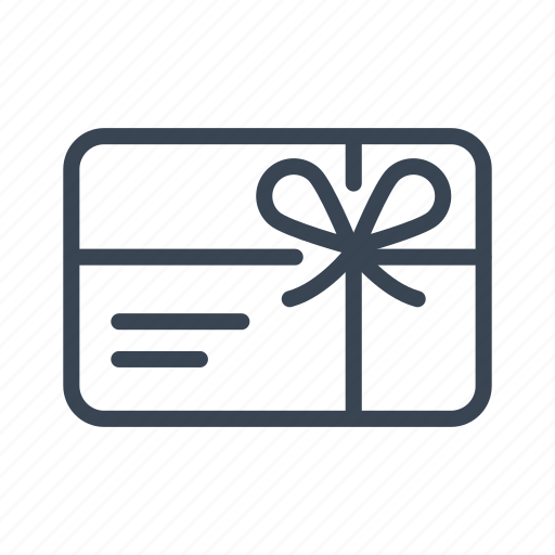 certificate, coupon, gift, present, voucher icon