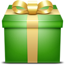 green, present, gift