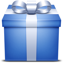 blue, gift, present icon
