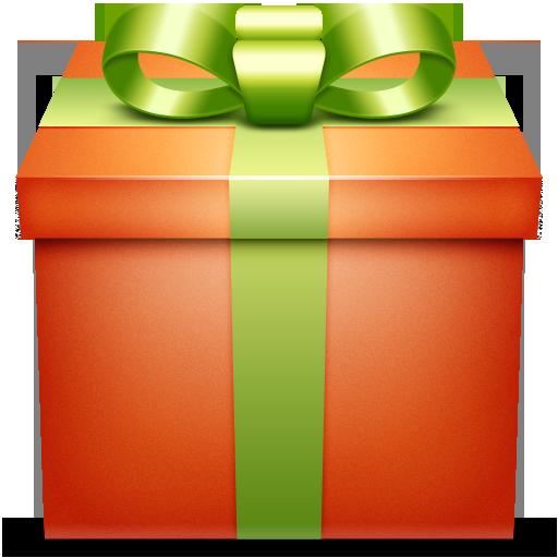 gift, orange, present icon