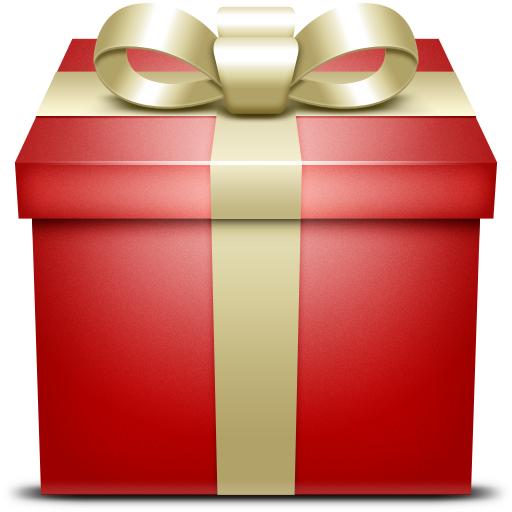 gift, present, red icon