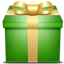 gift, green, present icon