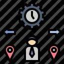 flexibility, freelancer, mobility, position, temporary icon