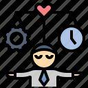abundance, balance, healthy, life, work icon
