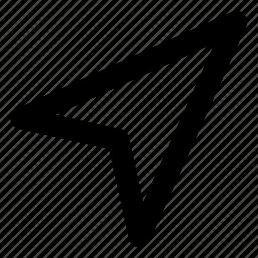 arrow, paper plane, pointer, right, send icon