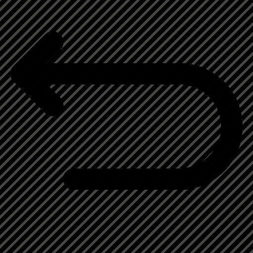 arrow, back, backward, return, undo icon