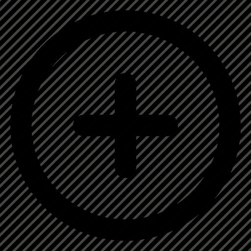 add, create, new, plus, start icon