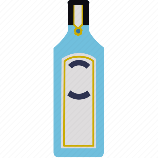 bombay, bottle, drink, gin, tonic, water icon