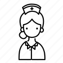 avatar, female, girl, nurse, people, person, woman icon