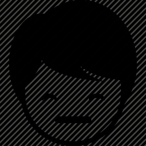 boy, emoticon, expression, face, grin, man icon