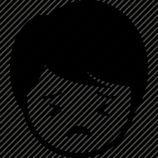 boy, emoticon, expression, face, man, perserve icon