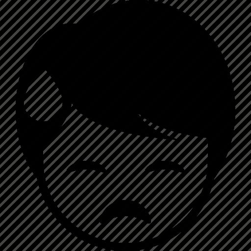 boy, emoticon, expression, face, man, sweat icon