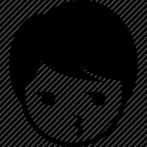 boy, emoticon, expression, face, man, whistle icon