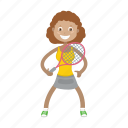 girl, kid, tennis, tennis player icon