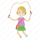 girl, jump, kid, swing icon