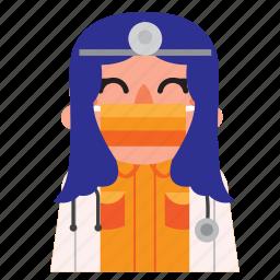 avatar, doctor, girl, hospital, masker, nurse icon