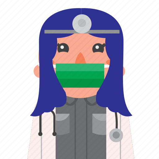 avatar, doctor, girl, hospital, masker, nurse icon