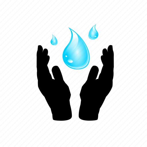 care, giving, hands, holding, life, water icon