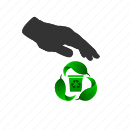 garbage, recycle, renew, reuse, trash icon