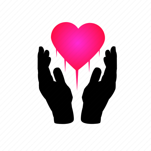 care, giving, hands, healthcare, love, support icon