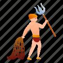 africa, african, fight, fork, gladiator, lance